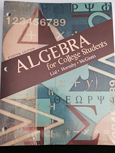 9781256311003: Algebra for College Students - Custom Edition (Taken From Algebra for College Students, 7th Edition)