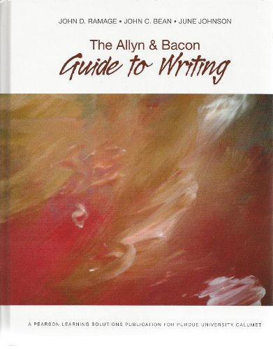 9781256312383: The Allyn & Bacon Guide to Writing