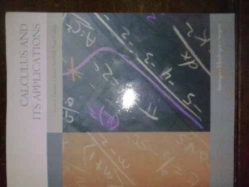 9781256319801: Calculus and Its Applications (Second Custom Edition for Polk State College)