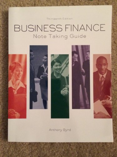 9781256324348: Business Finance Note Taking Guide