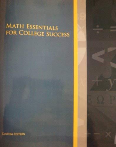 9781256327455: Math Essentials for College Success Custom Edition