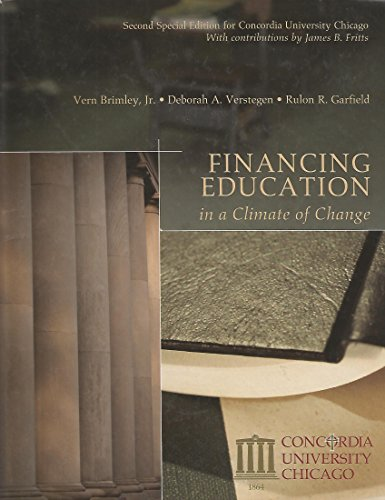 9781256328339: Financing Education in a Climate of Change