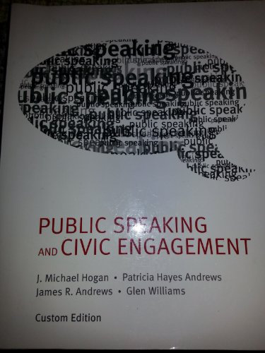 Public Speaking and Civic Engagement: J. Michael Hogan,