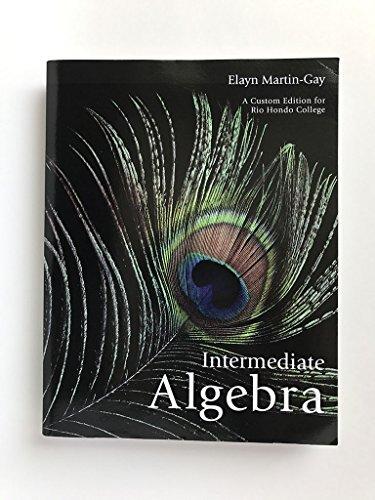 9781256338826: Custom Edition Rio Hondo College Intermediate Algebra