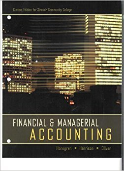 9781256341093: Financial & Managerial Accounting 2nd Edition