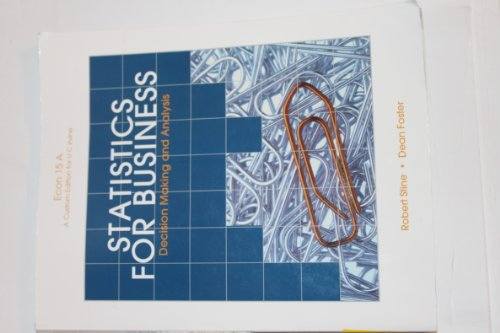 9781256341154: Statistics for Business Decision Making and Analysis