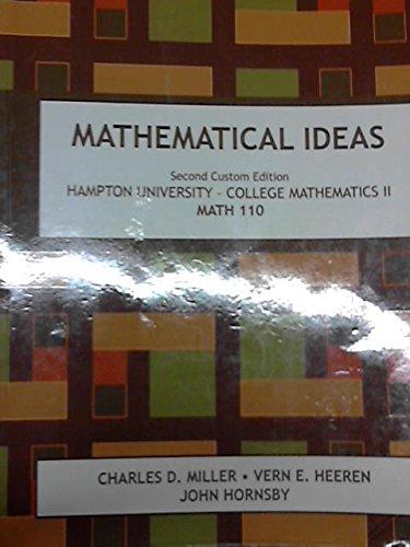 9781256342496: Mathematical Ideas Second Custom Edition for Hampton Unviersity