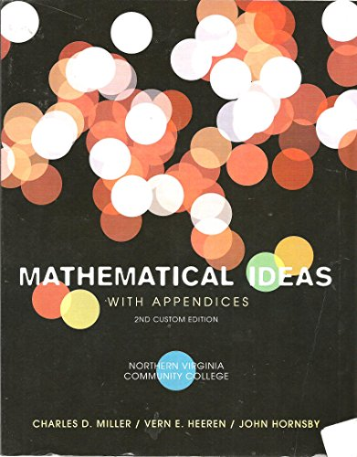 9781256345671: MATHEMATICAL ideas with appendices