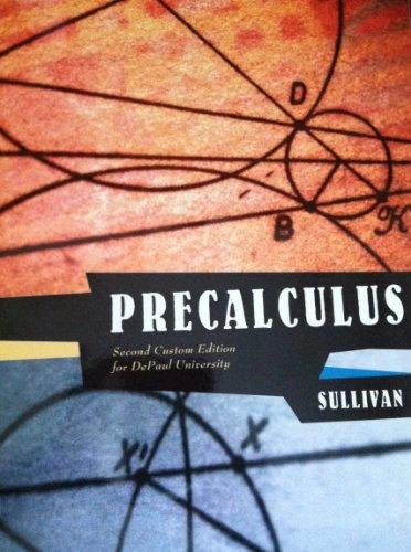 9781256346036: Precalculus Second Custom Edition for DePaul University