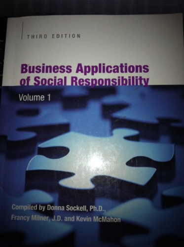 9781256349716: Business Applications of Social Responsibility Volume I & II