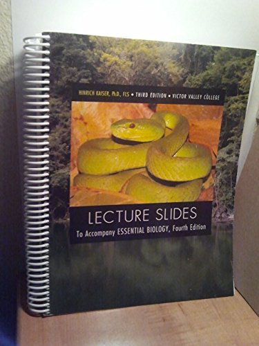 9781256360803: Lecture Slides (To Accompany Essential Biology, Fourth Edition, Victor Valley College)