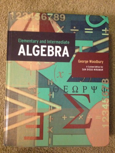 9781256361961: Elementary and Intermediate Algebra