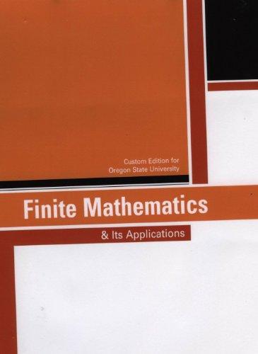 9781256369394: Finite Mathematics & its Applications - Custom Edition for Oregon State University