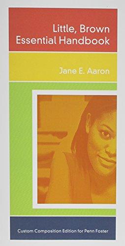 Little Brown Essential Handbook - Custom Edition: Jane E Aaron