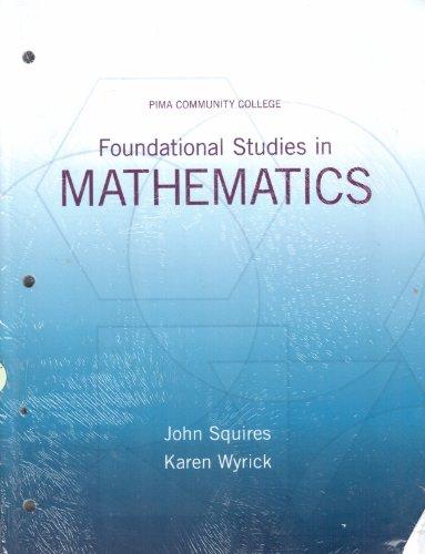 9781256403135: foundational studies in mathematics (pima college)