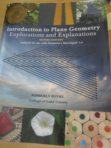 9781256414100: Introduction to Plane Geometry: Explorations and Explanation