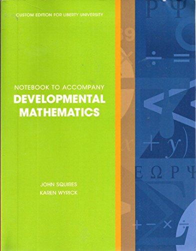 9781256417743: Developmental Mathematics Notebook custom edition