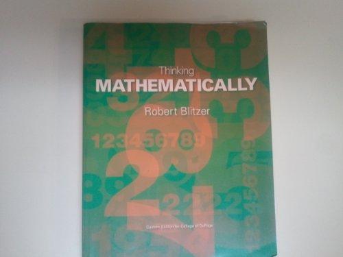9781256423690: Thinking Mathematically (Custum Edition)