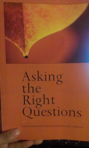 9781256424246: Asking the Right Questions: A Guide to Critical Thinking