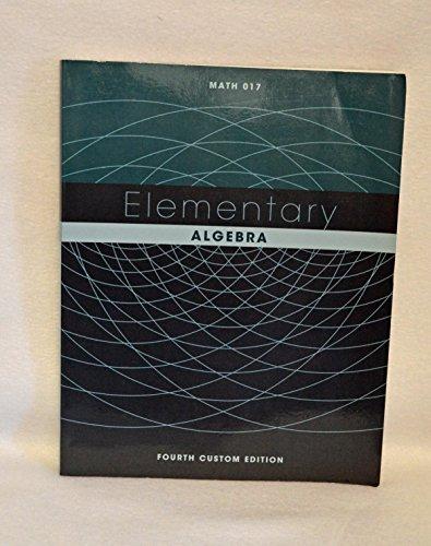 Elementary Algebra, 4th Custom Edition