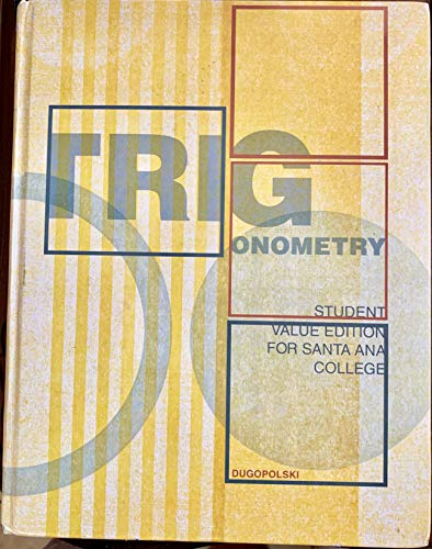 9781256427834: Trigonometry (My Math Lab Plus Student Access Disc) (Value Edition for Santa Ana College)
