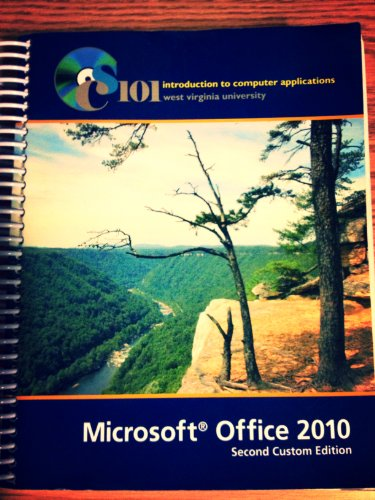 9781256433217: introduction to computer applications (microsoft office 2010, custom for west virginia university)