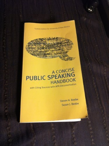 9781256435358: A Concise Public Speaking Handbook: Custom Edition for University of New Mexico