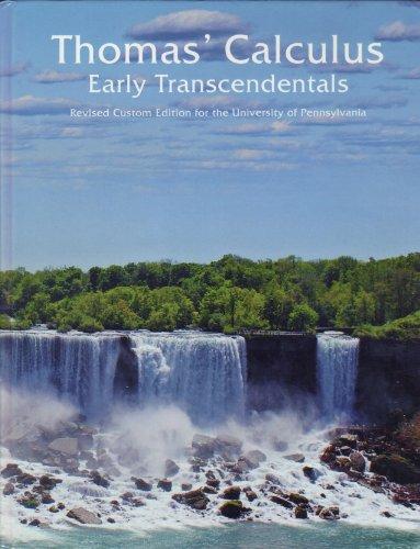 THOMAS'CALCULUS:EARLY TRANS.>CUSTOM<: Thomas, George B.;