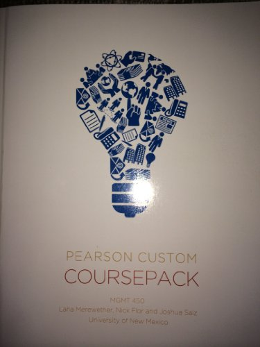 9781256447139: Pearson Custom Coursepack MGMT 450