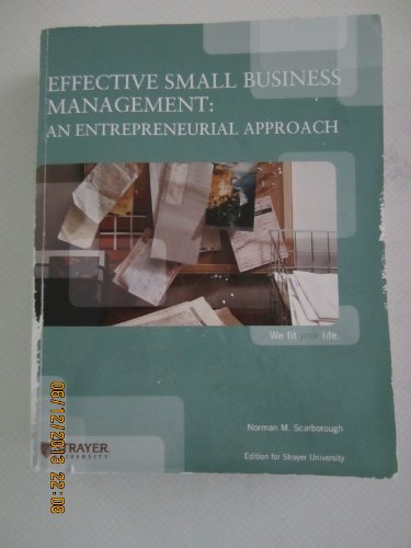 9781256468943: Effective Small Business Management: An Entrepreneurial Approach