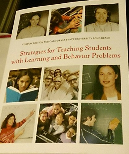 9781256484172: Strategies for Teaching Students with Learning and Behavior Problems: Custom Edition for CSLUB