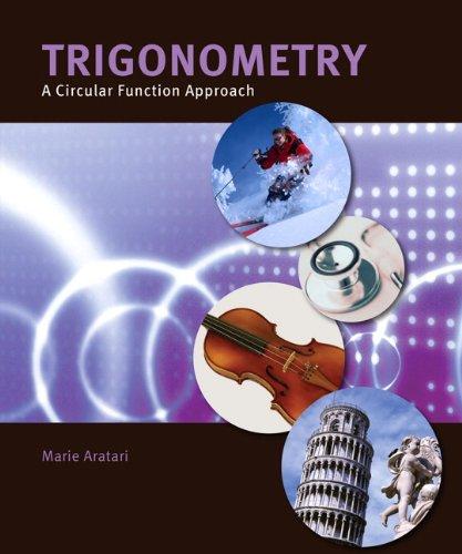 9781256484592: Trigonometry: A Circular Function Approach