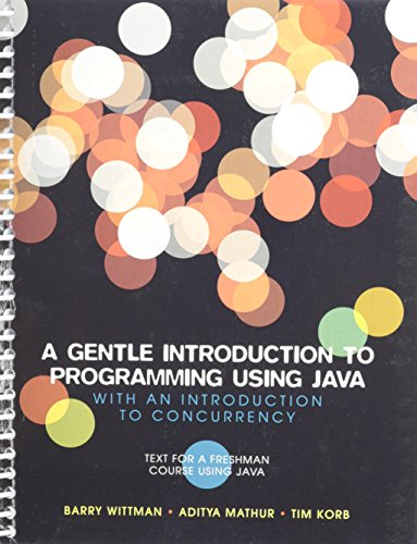 9781256486077: A Gentle Introduction to Programming Using Java
