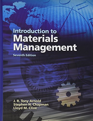 Introduction to Material Management (Custom Edition for: Arnold, J.R. Tony;