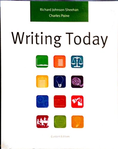 9781256509288: Writing Today (Custom Edition, 863 pages)