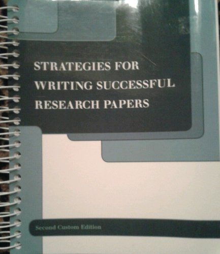 9781256521525: Strategies for Writing Successful Research Papers
