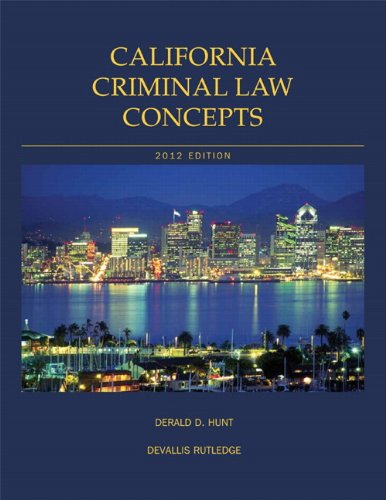 9781256521693: California Criminal Law Concepts and Student Powernotes Package 2012 Edition