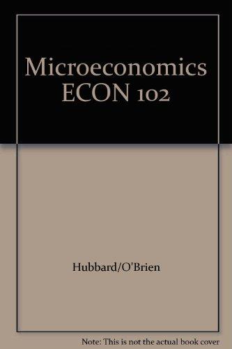 9781256534419: Microeconomics ECON 102