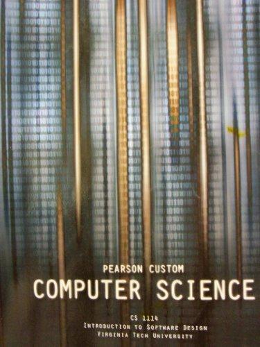 9781256545781: Computer Science (CS 1114 Introduction to Software Design Virginia Tech University)