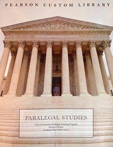 9781256551270: Paralegal Studies for UCLA Extension paralegal Training Program