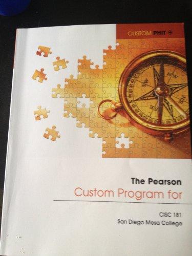 9781256564904: Pearson Custom Program for CISC 181 San Diego Mesa College