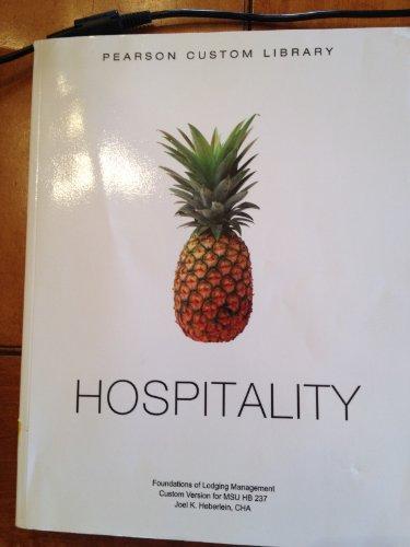 9781256570943: Pearson Custom Library Hospitality for MSU HB237