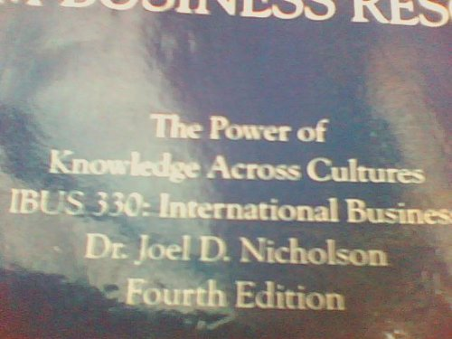 9781256574163: The Power of Knowledge Across Cultures (IBUS 330: International Business (SFSU))