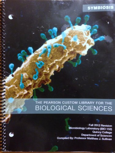 9781256575924: The Pearson Custom Library for the Biological Sciences