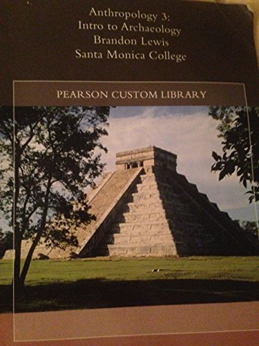 9781256582366: Anthropology 3: Intro to Archaeology