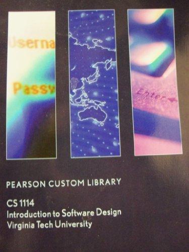 9781256594208: CS 1114 Introduction to Software Design (Virginia Tech University)