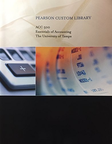 9781256595052: Essentials of Accounting, University of Tampa (Pearson Custom Business Resources)