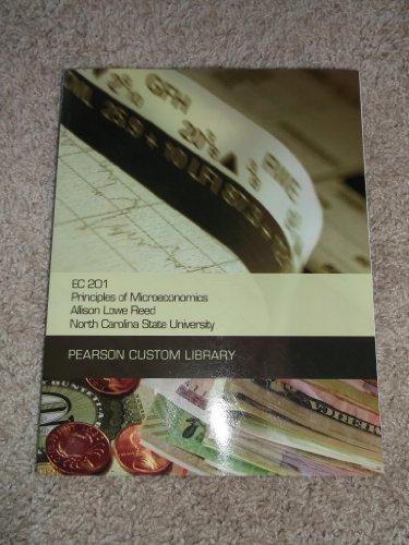 9781256601760: EC 201 Principles of Microeconomics NCSU