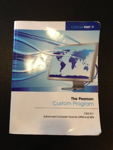 9781256602293: The Pearson Custom Program CQS311 - Advanced Compu