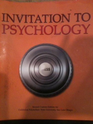 9781256634119: Invitation to Psychology